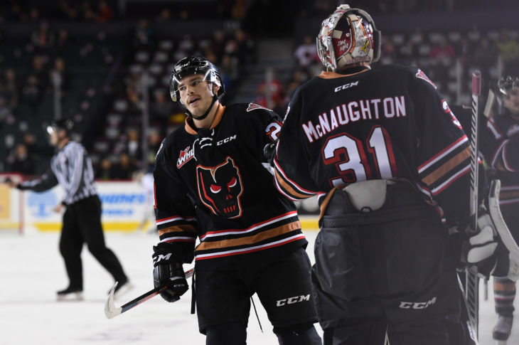 The Hitmen powerplay strike twice Tuesday night and remain in the top three in the WHL