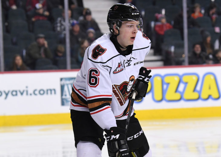 Luke Prokop has played top four minutes for the Hitmen impressively as a 16-year-old