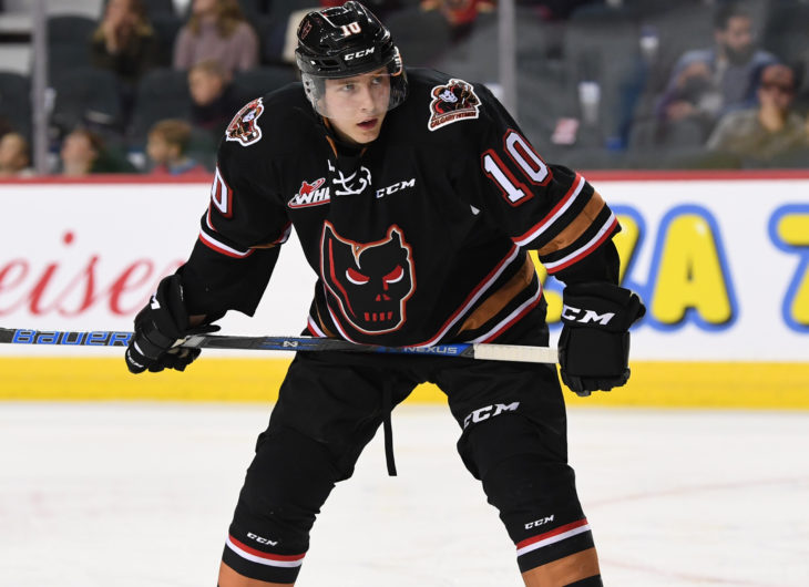 Josh Prokop leads all Hitmen rookies in scoring with 18 points (6G, 12A)