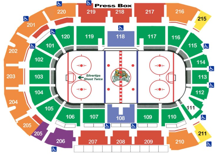Silvertips Seating 15-16 with ADA