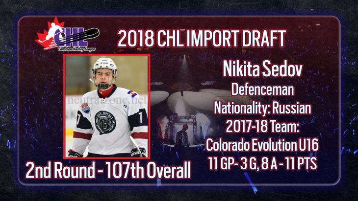 Sedov CHL Import Draft