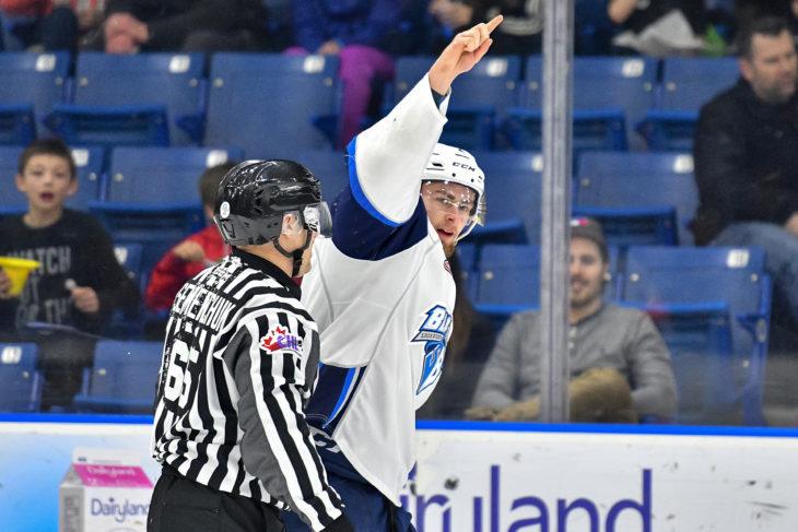 The Saskatoon Blades host the Kootenay Ice at the Sask Tel Centre Saskatoon, Saskatchewan, Canada, March 03, 2017