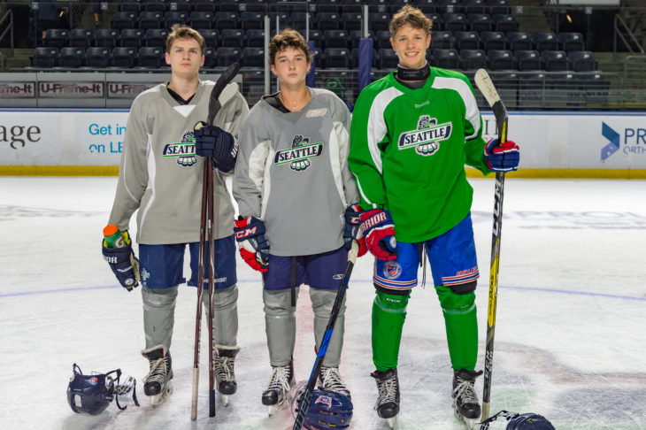 (Left to right) - Adam Redding, Andrew Alonzo, Tyson Shaw