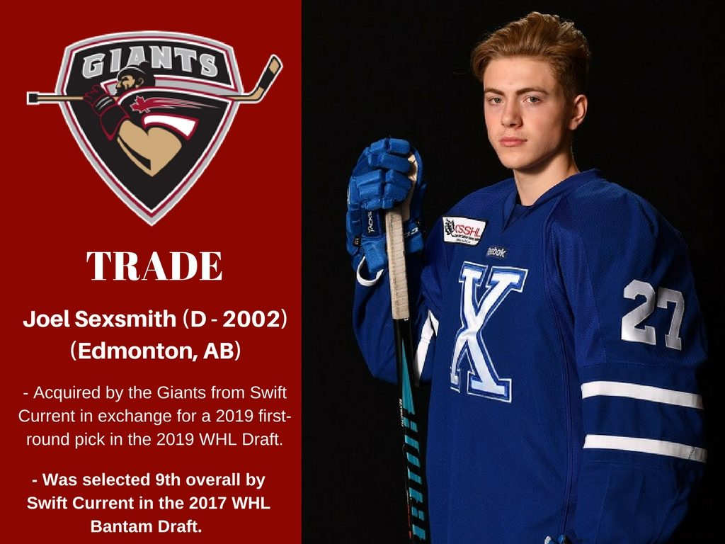 Giants Acquire 2002 Born Defenceman Joel Sexsmith Sexsmith is among the latter, simply because he writes great songs. giants acquire 2002 born defenceman