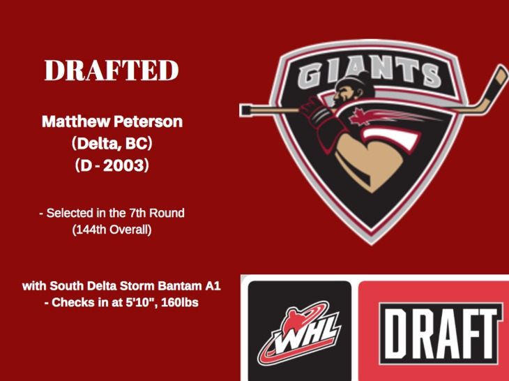 Matthew Peterson DRAFTED