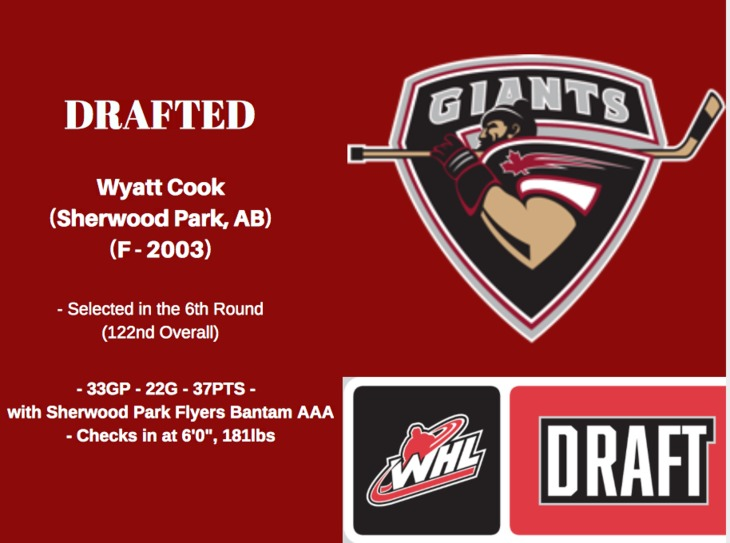 Wyatt Cook DRAFTED