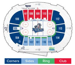 Victoria Royals Seat Map