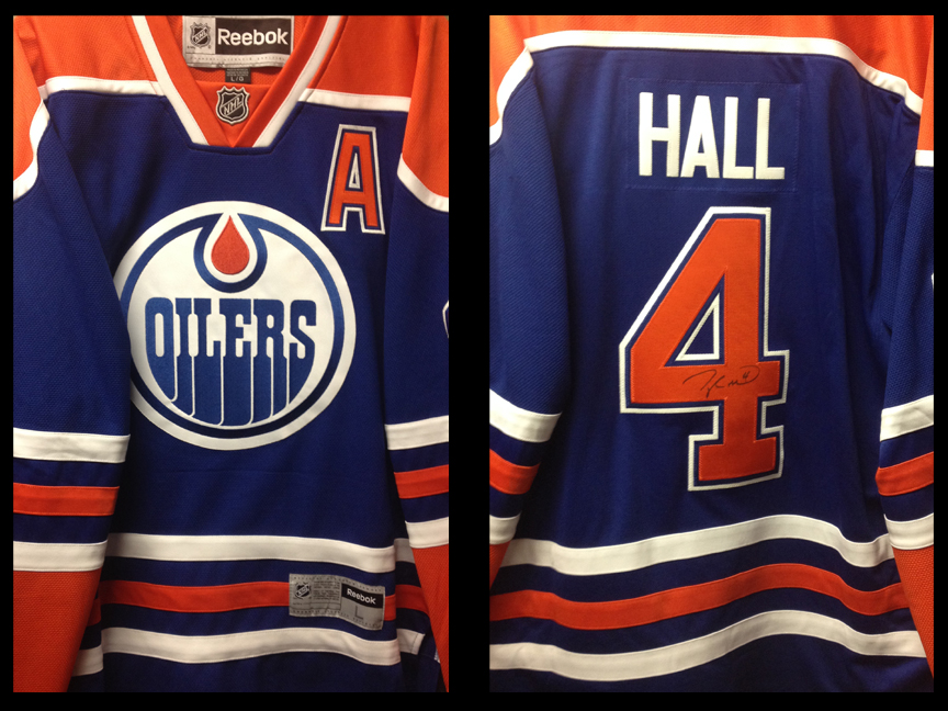 taylor hall autographed jersey