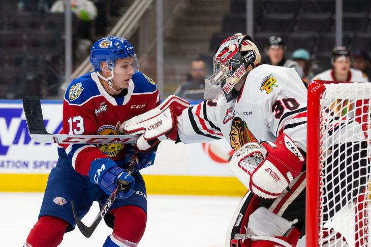 Edmonton Oil Kings vs Portland Winterhawks at Rogers Place in Edmonton on Saturday, October 13, 2019 (Photo by Codie McLachlan)