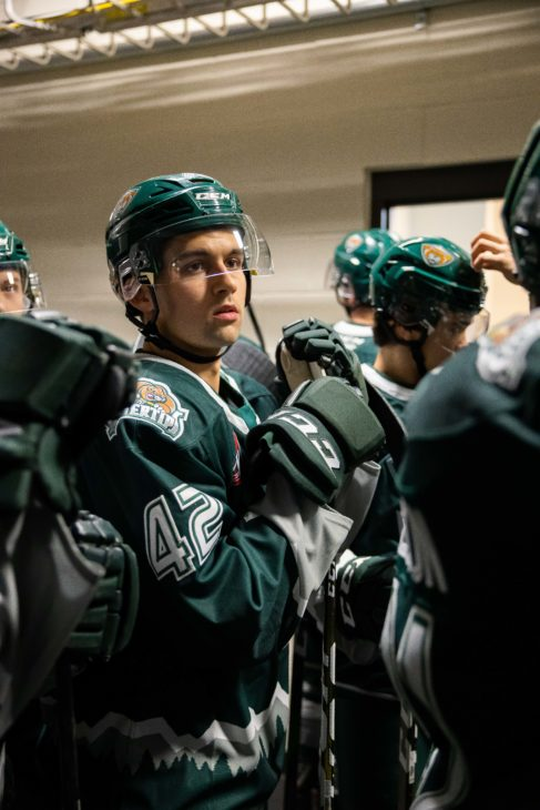 EVERETT, WA - OCTOBER 16: during a game between the Everett Silvertips and Brandon Wheat Kings on Wednesday, October 16, 2019 at Angel of the Winds Arena in Everett, WA.(Photo by Christopher Mast/Icon Sportswire)