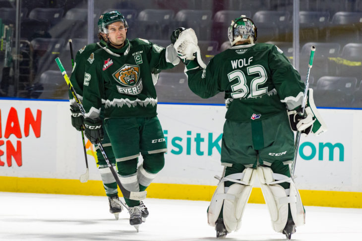 Wolf had 4 shutouts, and 10 games of allowing 1 goal or less. (Brian Liesse)