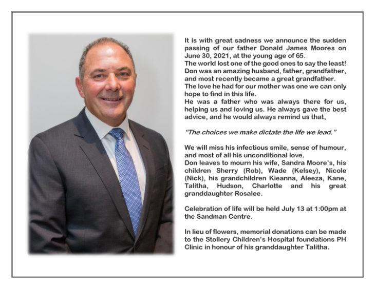 Don Moores Obituary copy