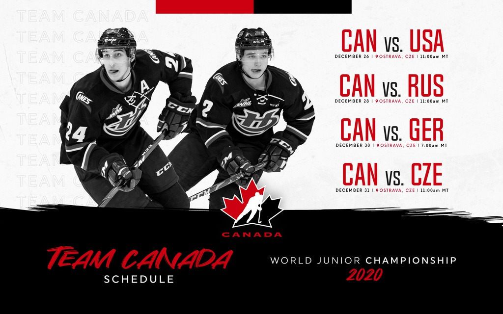 Team Canada 2020 World Junior Championship Schedule Lethbridge Hurricanes