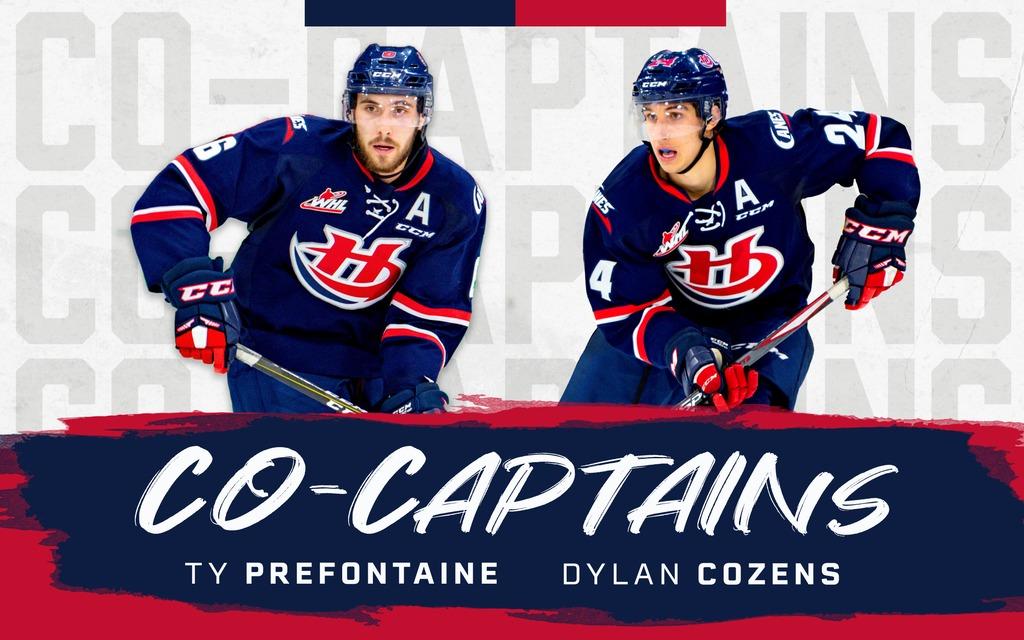 Prefontaine, Cozens Named Co-Captains – Lethbridge Hurricanes
