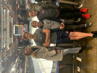 Georgia Wheatcroft, Chase, Owen, and Jake post-game.