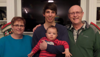 Linda, Nikita Milekhin, Logan (grandson), and Kevin