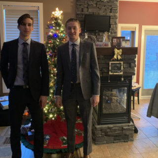 Dylan and Alex at Christmas