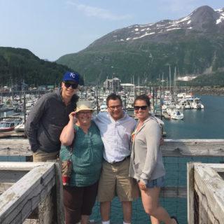 Justin Gutierrez, Irene, Ralph, and Jess in Alaska