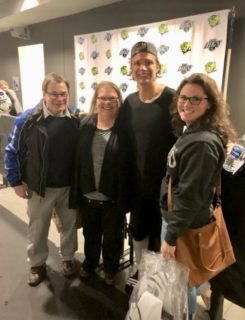 Visiting Brad in LA where the family watched him score his first AHL goal