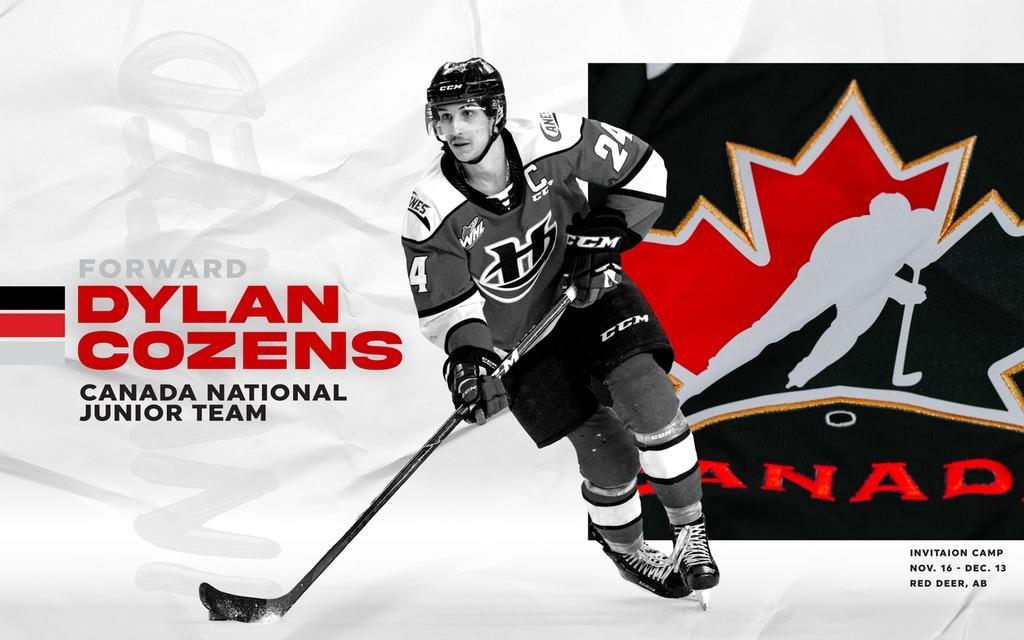 Cozens Named To Team Canada World Junior Camp Lethbridge Hurricanes
