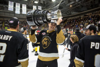 Rubins and the Growlers won the Kelly Cup in their inaugural season. Photo credit: Jeff Parsons