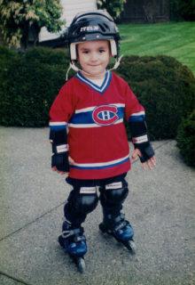 Young Hopwo sporting his Habs jersey