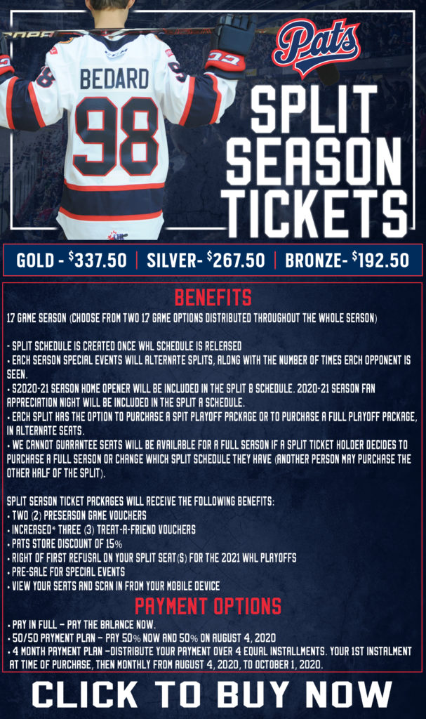 Split Season Tickets Flyer