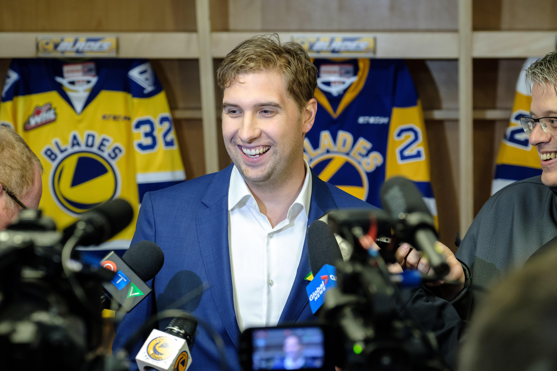 The Saskatoon Blades press conference