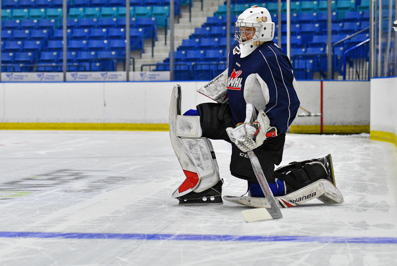 Elliott at the Blades' 2019 Training Camp.