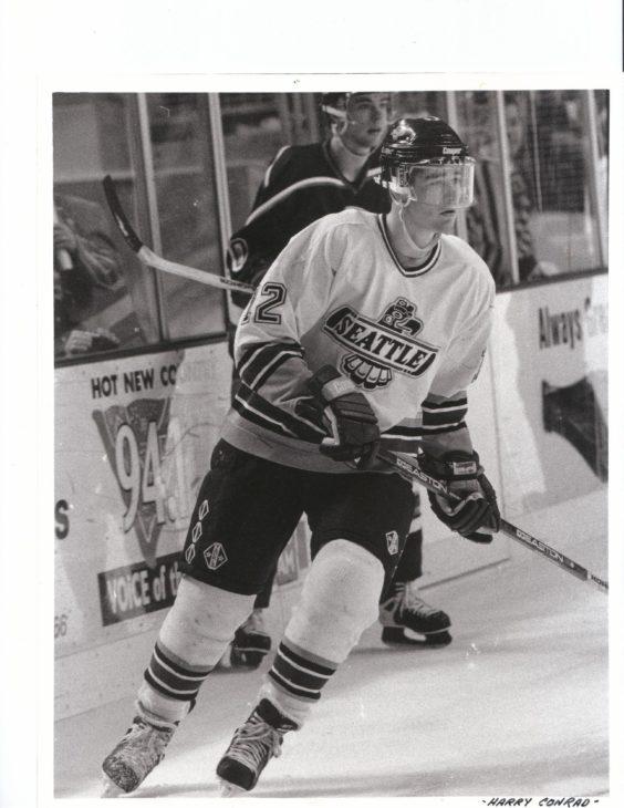Patrick Marleau on ice at KeyArena