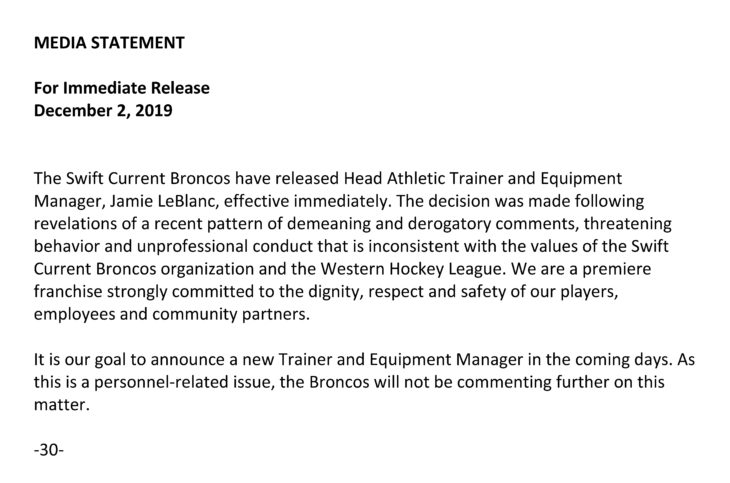 Media Statement_Broncos_Dec2