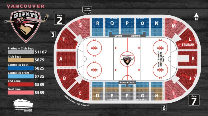 19.20 Vancouver Giants Seat Map