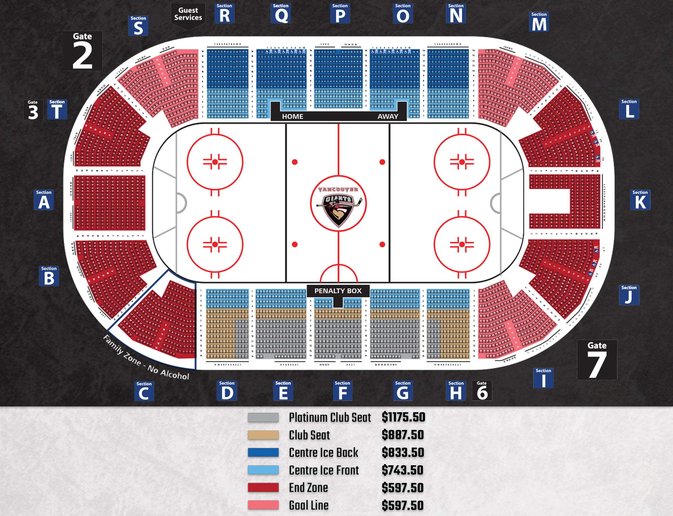 website seat map pricing copy