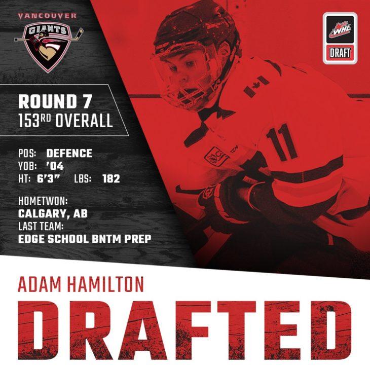 HAMILTON DRAFTED