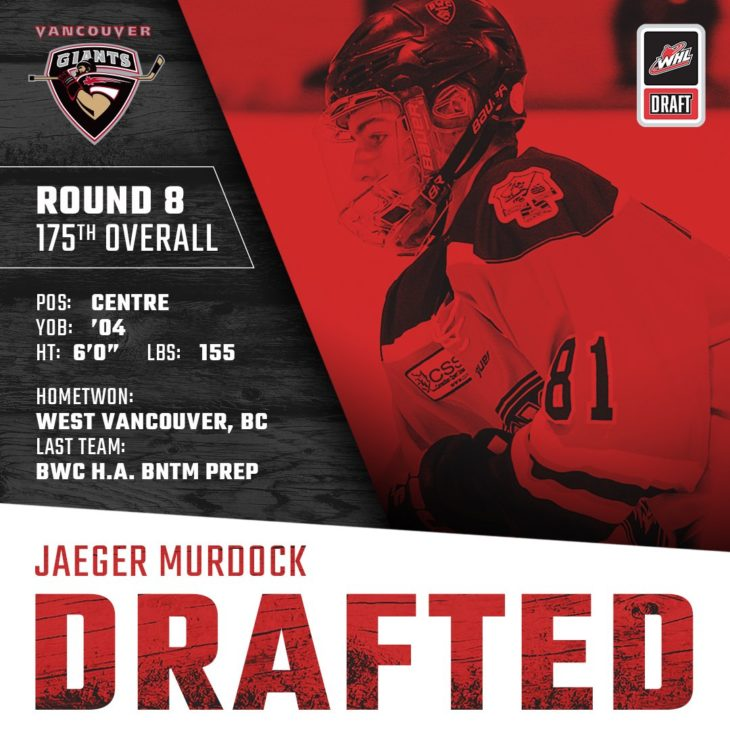 MURDOCK DRAFTED