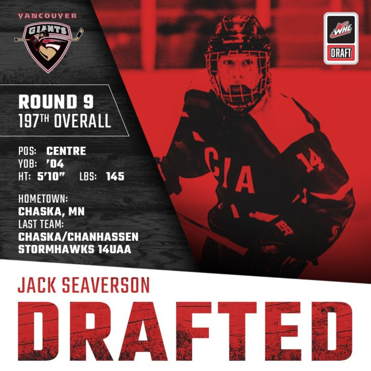 SEAVERSON DRAFTED