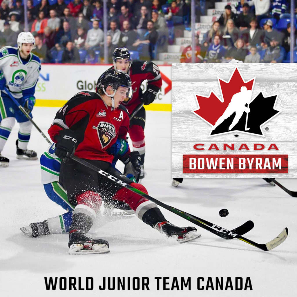 Bowen Byram Named To Canada S Roster For The 2020 World Juniors