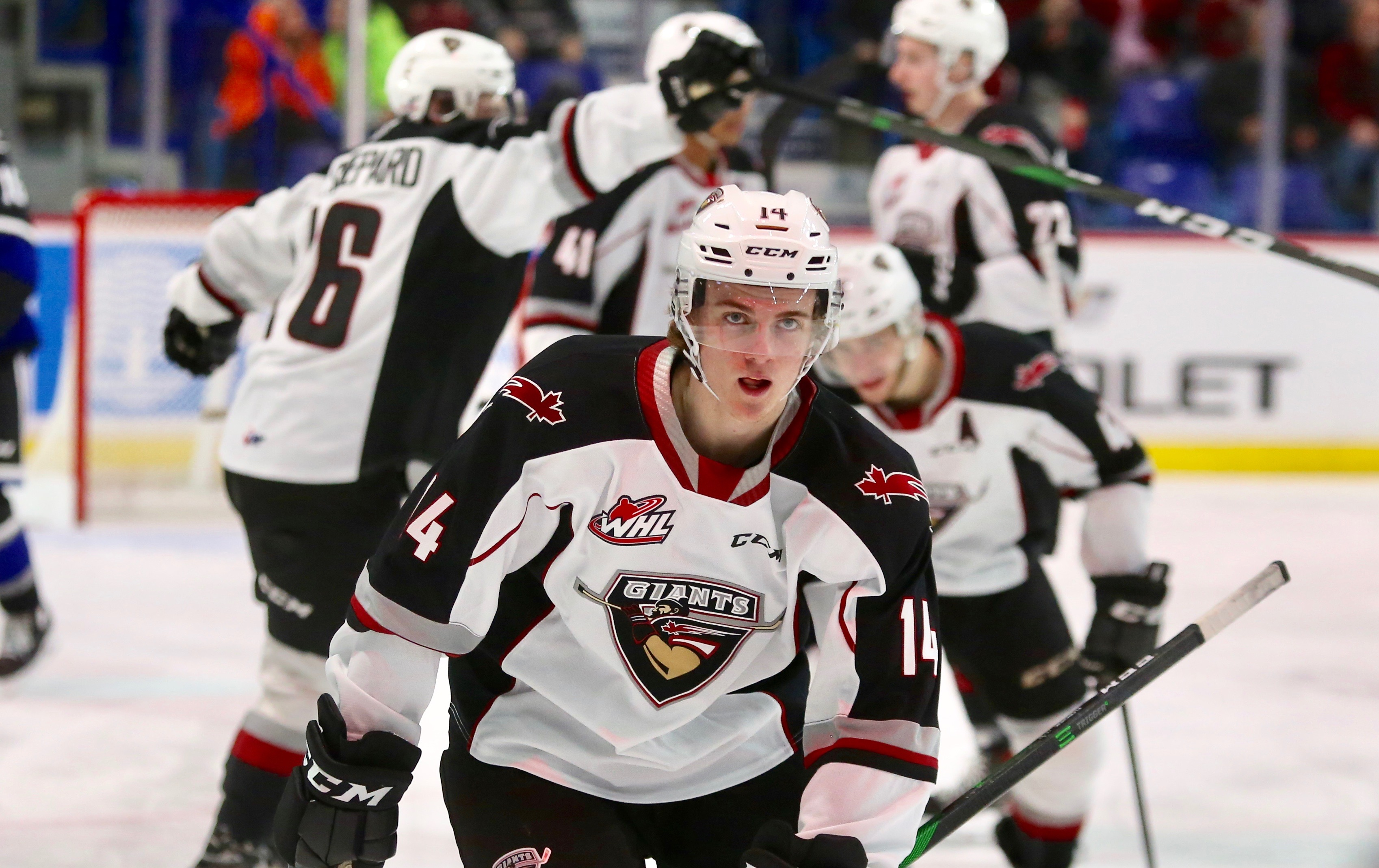 Florchuk's Hat-Trick Leads the Giants Over Royals 4-1.
