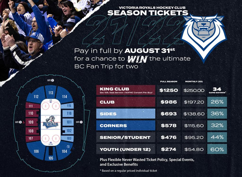 Victoria Royals - Season Ticket Information
