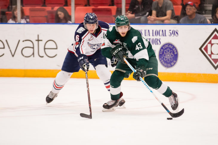 The Everett Silvertips and Tri-City Americans battled in the 2018 Western Conference Championship. Photo: Chris Mast