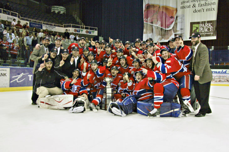 The 2008 Memorial Cup Champion Spokane Chiefs.