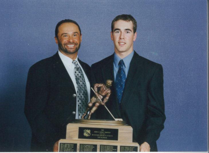 Calgary Hitmen forward Brad Moran won the Bob Clarke Trophy as the WHL's Top Scorer in 1999-00. His season began with a four-goal performance against the Lethbridge Hurricanes. Photo: WHL Archives