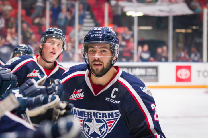 Tri-City Americans captain Nolan Yaremko will join the Mount Royal University Cougars in 2019-20. Photo: Tri-City Americans