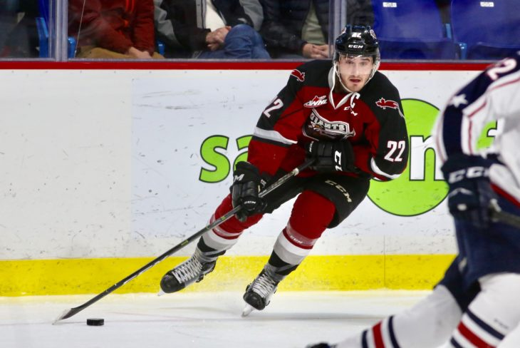 After leading his team to the 2019 Rogers WHL Championship Series, former Vancouver Giants captain Jared Dmytriw will join the University of Saskatchewan Huskies. Photo: Chris Relke/Vancouver Giants
