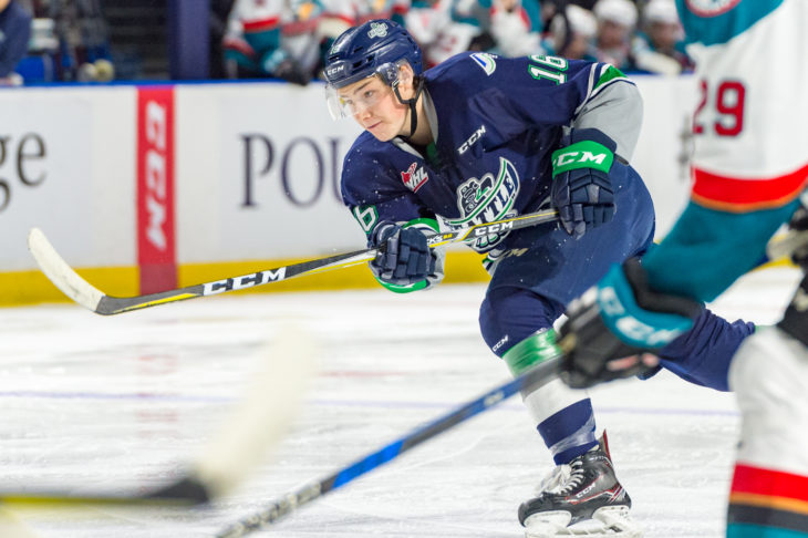 Noah Philp, brother of former Golden Bear Luke Philp, is one of several key additions to the University of Alberta Golden Bears roster this year. Photo: Brian Liesse/Seattle Thunderbirds