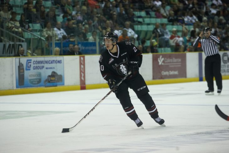 Mason McCarthy with the Rebels in 2014-15