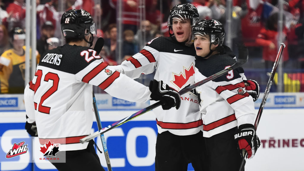 Canada Tops Germany Returns To Win Column At 2020 World Juniors Whl Network
